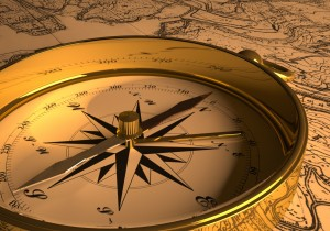 Compass with Map